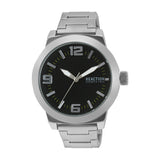 Reaction By Kenneth Cole Silver/Black Analog Watch Rk50092005 Men