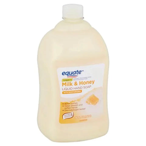 Equate Milk & Honey Liquid Soap 56 oz 1.65 L REFILL