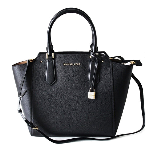 Michael Kors Hayes LG Tote Leather Black (35F8GYET3T)