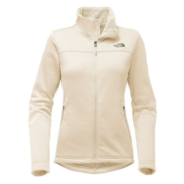 The North Face Women's Timber Full Zip Fleece Jacket Vintage White SMALL