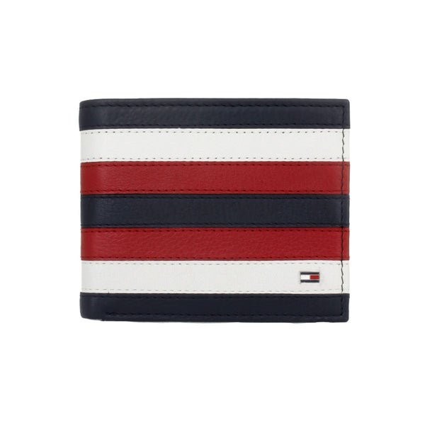 Tommy Hilfiger Leather Passcase & Vallet Navy Red (31TL220104)