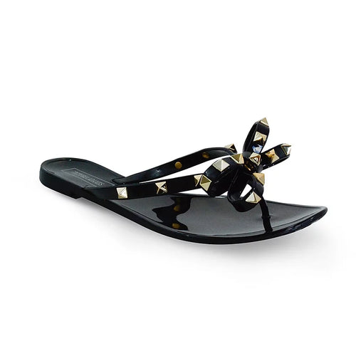 Victoria Adames Valencia Black Jelly Women Sandals