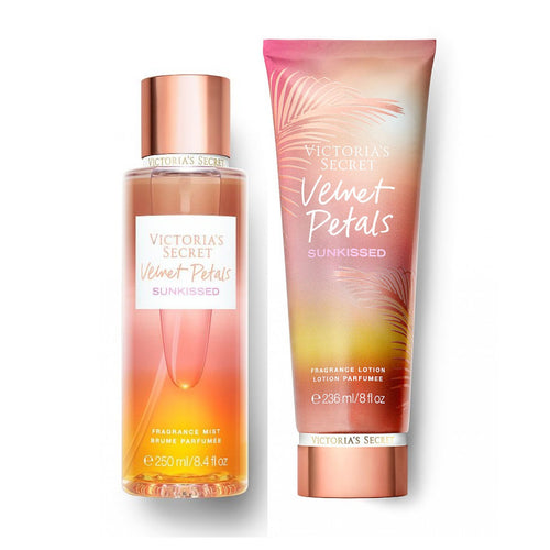 "Victoria's Secret Velvet Petals Sunkissed Body Mist & Body Lotion ""2-PACK"""