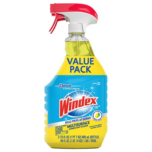 Windex Disinfectant Cleaner Multi-Surface Trigger 23 Fluid Ounces (Value Pack)