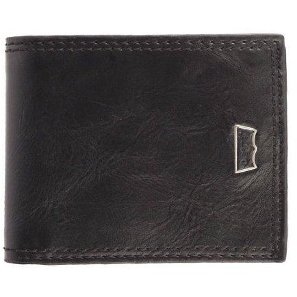Levi's Men's Leather Credit Card Id Wallet Billfold Black