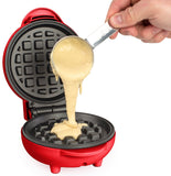 Nostalgia My Mini Personal Electric Waffle Maker Red