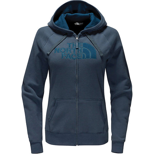 The North Face Women's Avalon Half Dome Full Zip Hoodie - Ink Blue