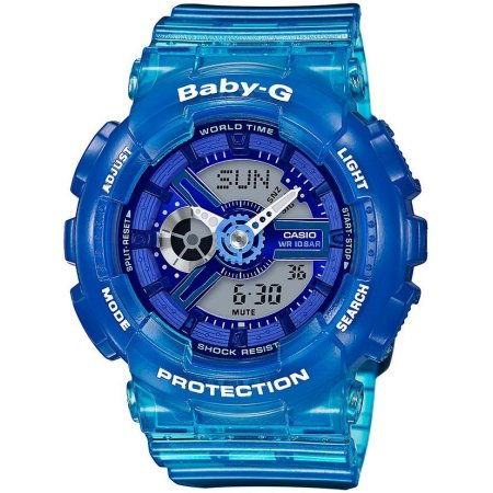 Casio Baby-G Blue Digital Analog Watch (BA110JM-2A)