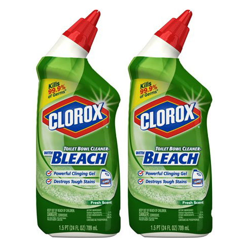 "Clorox Toilet Bowl Cleaner Clinging Bleach Gel 24 oz ""2-PACK"""