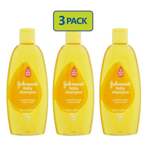 Johnson's Baby Shampoo (500ml) 3-PACK