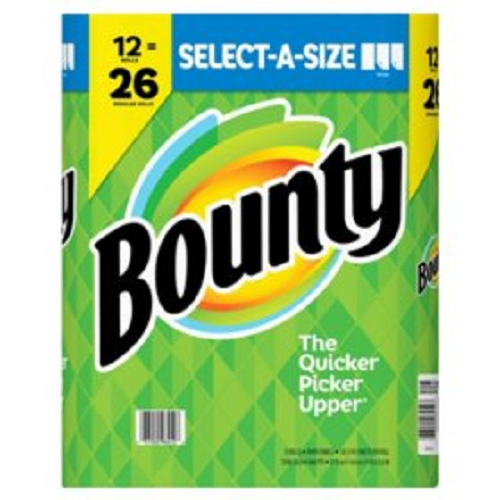Bounty Select-A-Size Paper Towels 12 rolls = 26
