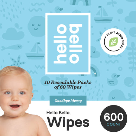 Hello Bello Baby Gift Set, Includes Shampoo & Wash, Bubble Bath, Baby Lotion, and Wipes