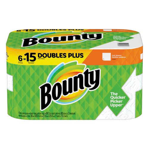 Bounty Select-A-Size Paper Towels White 6 Double Plus Rolls = 15 Regular Rolls