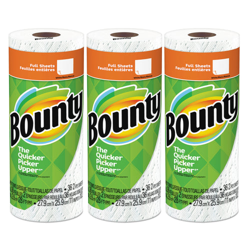 Bounty 36 sheets, White Paper Towels (Pack of 3 Rolls)