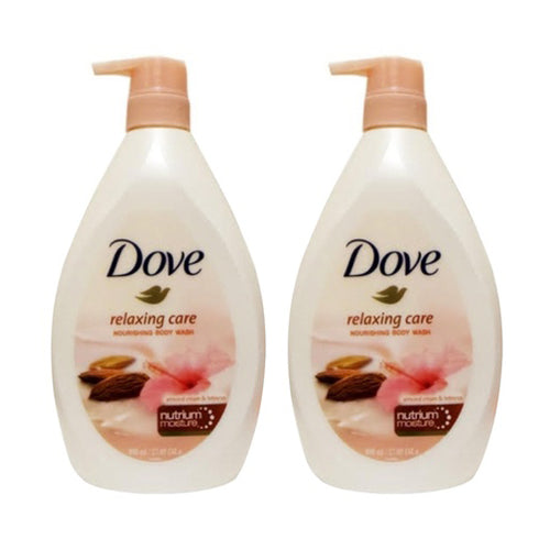 "Dove Relaxing Care Almond Cream & Hibiscus Body Wash 800 ml 27.05 oz ""2-PACK"""