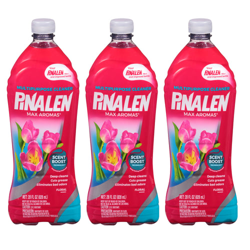 "Floral Multipurpose Cleaner 33.8 oz 1 L By Pinalen Max Aromas® ""3-PACK"""