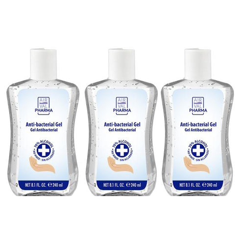 Anti-bacterial Gel 70% Alcohol 8.1 oz By Air Val Pharma (3-Pack)