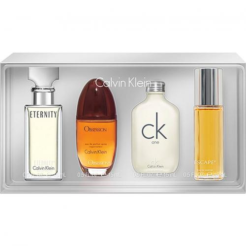 Calvin Klein CK Ladies 4 pcs Mini Gift Set: Eternity, Obsession, CK one & Escape