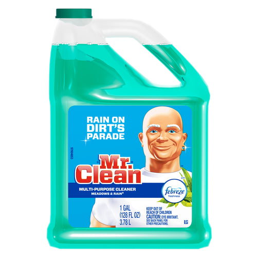 Mr. Clean Liquid All Purpose Cleaner, Meadows and Rain, 128 fl oz