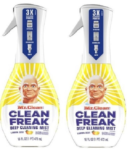 Mr. Clean Clean Freak Multi-Surface Spray Starter Kit, Lemon Zest (2-Pack)
