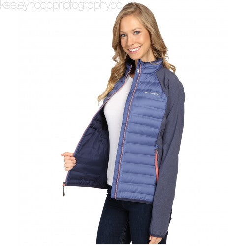 Columbia Women's Flash Forward Hybrid Jacket, Bluebell/Nocturnal