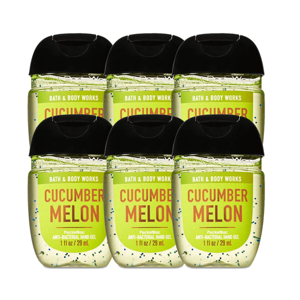 "Bath & Body Works Cucumber Melon Anti-Bacterial - Hand Sanitizers ""PACKS"" 1 oz 29 ml"