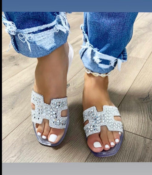 Victoria Adames Soho Jelly Sandals Clear