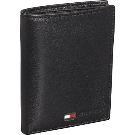 Tommy Hilfiger Men's Polished Lamb Credit Card Organizer Black (31TL19X021)