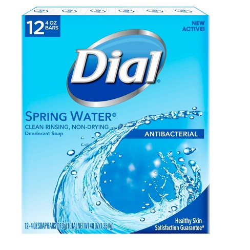 Dial Antibacterial Deodorant Spring Water Bar Soap - 4oz/12pk