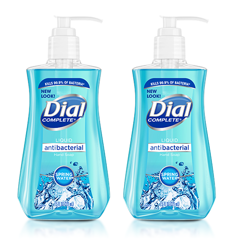 "Dial Complete Liquid Antibacterial Hand Soap Spring Water 11 oz ""2-PACK"""