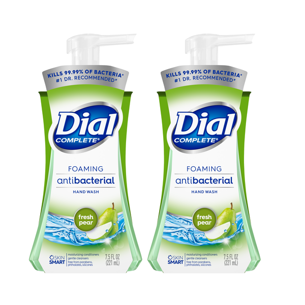 "Dial Complete Antibacterial Foaming Hand Wash, Fresh Pear, 7.5 oz ""2-PACK"""