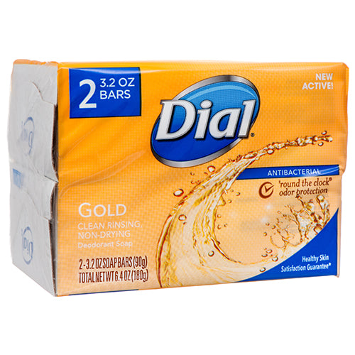 Dial Gold Antibacterial Deodorant Soap, 2-Pack, Total Net Wt 6.4 oz