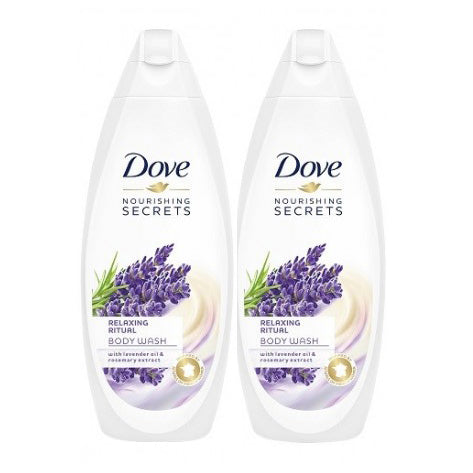 "Dove Body Wash Relaxing Ritual Lavender & Rosemary extract  750 ml ""2-PACK"""