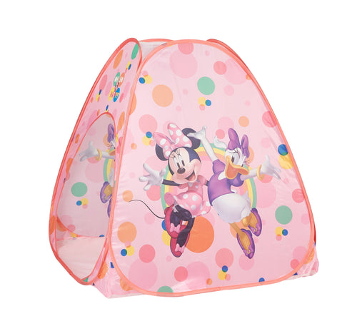 Disney Minnie Mouse 3 Piece Tent Set (Tent Set with Pillow and Flashlight)