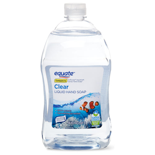 Equate Clear Liquid Hand Soap 56 oz 1.65 L Refill