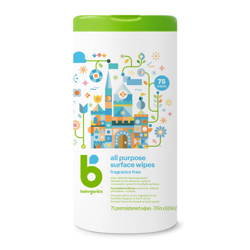 Babyganics All Purpose Surface Wipes 75 Wipes