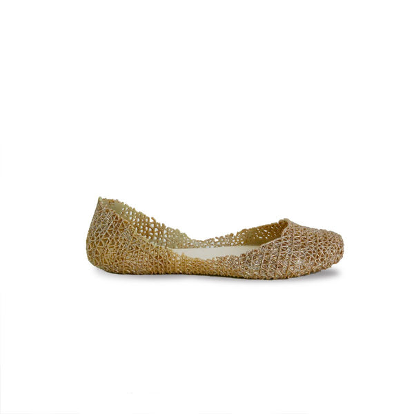 Victoria Adames Paris Jelly Ballet Flat Light Gold