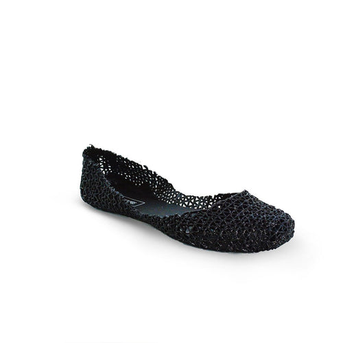Victoria Adames Paris Jelly Ballet Flat Black