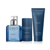 Calvin Klein Eternity Aqua 3pc Gift Set EDT 3.3 oz 100 ml Men