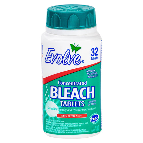 Evolve Ultra Concentrated Bleach Tablets, Linen Breeze Scent, 32 Ct.