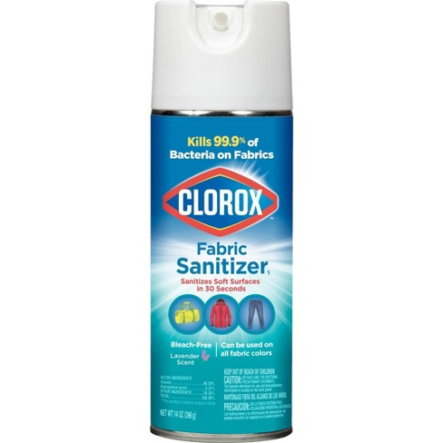Clorox Fabric Sanitizer Aerosol Spray, Lavender Scent - 14 oz