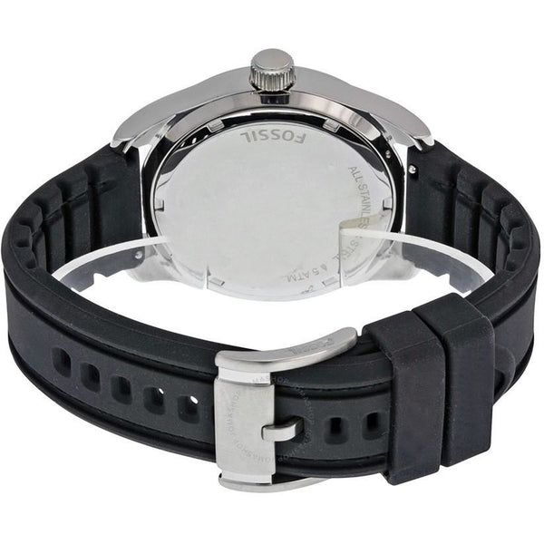 Fossil Black Dial Black Silicone Strap Men's Watch (BQ1252)