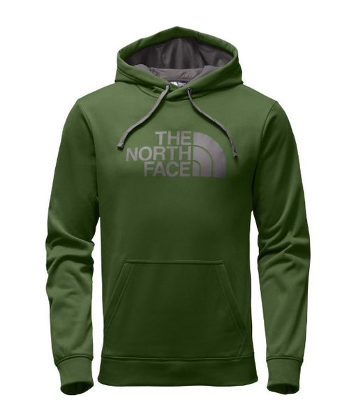 The North Face Men's Surgent Half Dome Pullover Hoodie-Green/Brown
