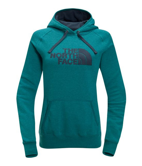 The North Face Woman's Avalon Half Dome Waffle Hoodie - Heather Blue