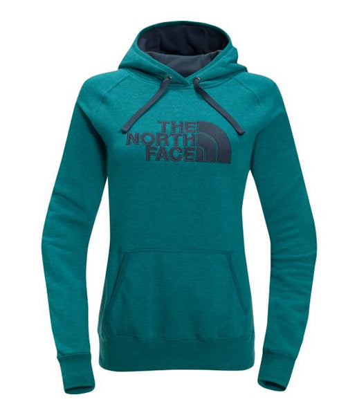 The North Face Woman's Avalon Half Dome Waffle Hoodie Harbor Blue/Ink Blue