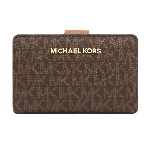 Michael Kors Jet Set Travel MD Bifold Zip coin Wallet (35F8GTVF2B)