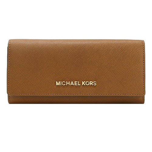 Michael Kors Jet Set Travel Saffiano Leather Carryall Wallet Luggage (35H6GYAE3L)