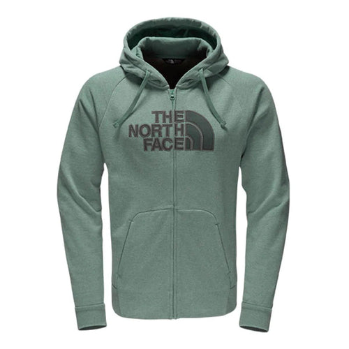 The North Face Men's Avalon Half Dome Full Zip Hoodie Silver Pine/Dark Green