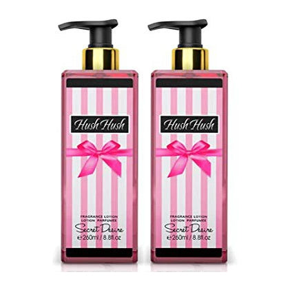 Secret Desire Hush Hush Gift Set 2PC Body Lotion 8.8 oz