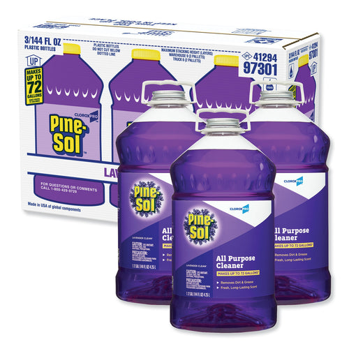 Clorox Pine-Sol All Purpose Cleaner 144 oz. Lavender Clean Scent (Pack of 3)